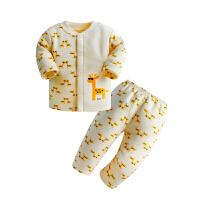 0男婴儿童装3女宝宝4保暖5内衣服1套装纯棉6春秋春装2周岁12个月9