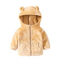 婴儿女童外套秋冬装儿童新款中小童加绒男童宝宝棉衣潮春冬季上衣