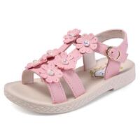 童鞋女童凉鞋宝宝公主鞋夏季儿童露趾平底沙滩鞋子