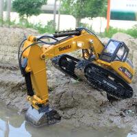 【限时抢】童励23通道汇纳580全金属遥控车遥控挖掘机玩具挖土机工程车模型玩具