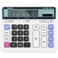 得力计算器财务专用大号太阳能计算器银行办公大按键计算机