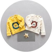 宝宝卫衣加绒韩版男童冬装0-1-2-3岁45小童打底衫加厚套头儿童装