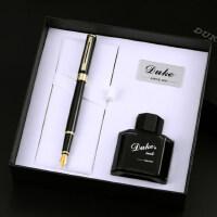 正品DUKE德国公爵N12铱金笔特细笔钢笔财务笔墨水礼盒套装