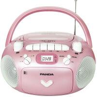 熊猫/PANDA CD-209 CD/磁带 录音/MP3光盘 插卡 全能复读 收音播放机 红色