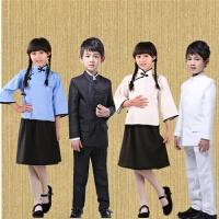 儿童中山装民国学生装女五四青年服中小学生合唱演出国学服表演服