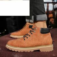 新品冬季男鞋英伦男靴加绒保暖鞋子短靴男马丁靴子男潮靴户外靴高帮工装靴