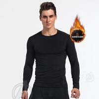 紧身上衣男运动长袖跑步足球训练高弹力压缩速干篮球打底衫健身服