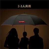 双层晴雨伞长柄半自动伞男士晴雨两用女