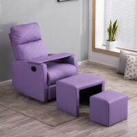头等太空沙发舱单人布艺沙发美睫美甲店电动躺椅小户型电脑沙发椅 PU皮沙发+子母凳+美甲板 颜色留言 +USB充电