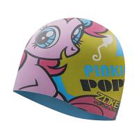 �和�硅�z泳帽男女童�o耳游泳帽子小�R��莉女孩游泳帽