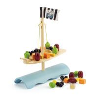 【特惠】Hape竹制帆船平衡3岁以上创意亲子游戏玩具早教益智游戏E5521