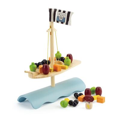 【特惠】Hape竹制帆船平衡3岁以上创意亲子游戏玩具早教益智游戏E5521 【德国Hape官方旗舰店】