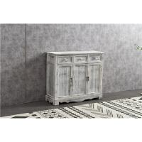 实木收纳柜储物柜复古斗柜做旧美式客厅阳台柜玄关抽屉柜子 整装