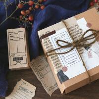 信的恋人木质印章时光手记复古功能清单票根日程旅行手帐素材图章