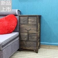 美式实木迷你斗柜简约现代客厅储物柜经济型卧室抽屉柜子定制 整装