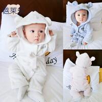 女婴儿衣服秋装6个月男宝宝长袖家居套装新生儿童冬两件套