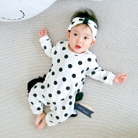 婴儿连体衣服宝宝新生儿季0岁5个月季6满3春装冬季长袖新年