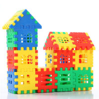 房子塑料积木玩具3-6周岁拼装插大块女孩男孩益智儿童玩具1-2周岁