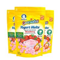 美国直邮/保税区 Gerber嘉宝 草莓味酸奶小溶豆 28g*3 海外购