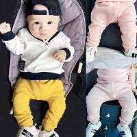 女婴儿裤子0岁7个月3男宝宝潮款秋装女童长裤2新生儿休闲秋季冬装