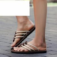 夏季拖鞋男士人字拖夏季防滑沙滩夹脚居家室权志龙同款浴室凉拖潮