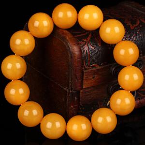 蜜蜡满蜡无伤无杂无裂圆珠手串 直径16.5mm 重量35.26g