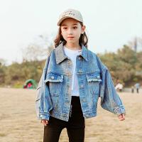 女童牛仔外套春秋洋气中大童潮童装儿童上衣