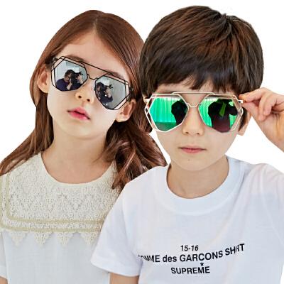 韩国KK树儿童太阳镜男童女童个性舒适墨镜防紫外线眼镜潮时尚潮流 防紫外线 个性舒适