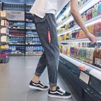 2017秋季新款潮流百搭哈伦裤宽松韩版男生学生裤子运动长裤