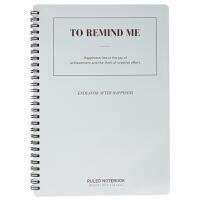 得力LB560彩色线圈本螺旋本笔记本学生练习本子 记事本 B5/60页