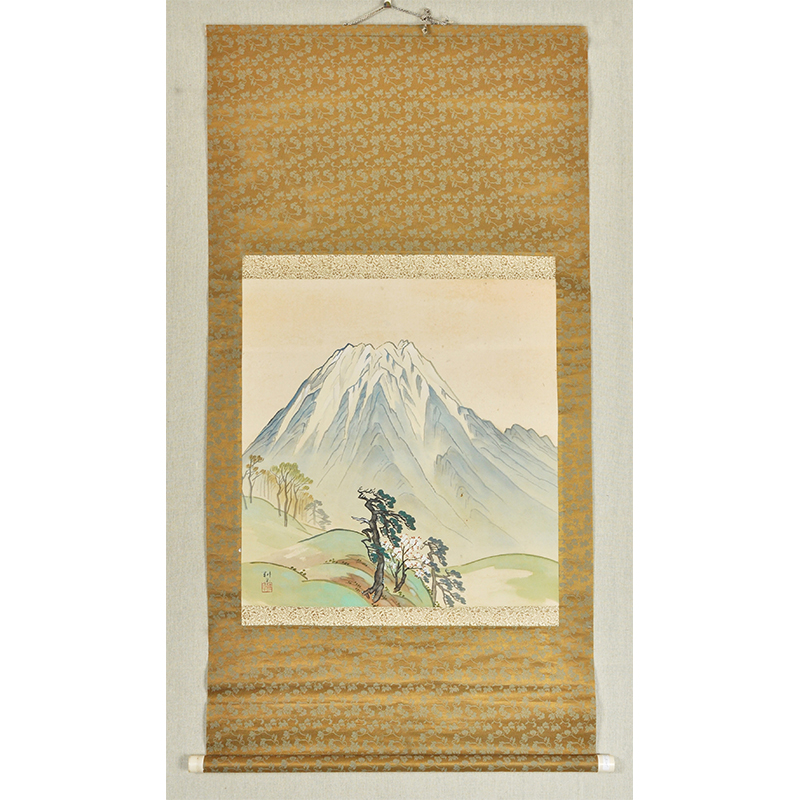 A3233  佚名《富士山》(日本回流,日式装裱)