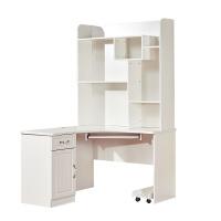 电脑台式桌家用简约现代转角桌组合书桌书柜书架烤漆写字台办公桌 804 120*120*197