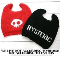 黑超娃娃帽子 男女宝宝毛线帽针织帽秋冬奶嘴迷你 时尚保暖针织帽