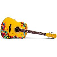 Saysn思雅晨41寸民谣吉他新手初学者入门吉他练习木吉他乐器花样年华套装