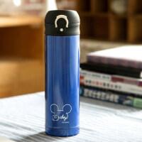迪士尼男女小学生304不锈钢保温杯直饮便携瓶儿童水壶防摔水杯子