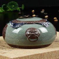 尚帝 哥窑茶叶罐 陶瓷密封罐 陶瓷茶具茶叶罐 特价醒茶缸茶具2014GYCG4K