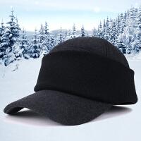新款秋冬季鸭舌帽中老年男士护脸帽套头帽棒球帽户外骑车保暖帽子