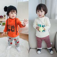 韩版新生儿上衣秋冬宝宝长袖T恤男女婴儿衣服内搭打底衫0-1-2岁3