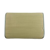 黄古林枕巾 单人席子枕皮凉席枕头包 草席枕头垫子枕片海绵草枕席 60*50cm 单个装
