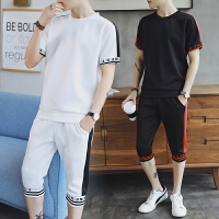 短袖T恤男士套�b�n版潮流夏季2018新款�W生半袖�\�有蓍e衣服套