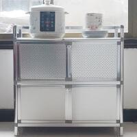 中式简易不锈钢碗柜橱柜厨房储物柜阳台铝合金柜子餐边柜致力