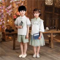 六一儿童演出服国学服男童汉服女童中国风幼儿园朗诵表演服