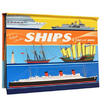 英文原版 Ships A Pop-Up Book 交通工具立体书 Robert Crowther 3-6岁儿童启蒙认知绘本读物