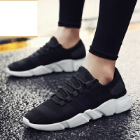 新品新款夏季男鞋2017帆布鞋时尚板鞋韩版休闲鞋男飞织透气鞋男运动鞋