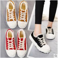 加绒小白鞋女秋冬季新款韩版百搭平底学生帆布鞋基础街拍板鞋