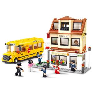 【当当自营】小鲁班模拟城市系列儿童益智拼装积木玩具 校园巴士M38-B0333