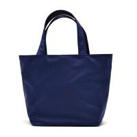 原创防水暗金尼龙牛津便当包饭盒袋女小包手提布包名媛女包手拎包