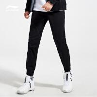 李宁休闲裤男士2018新款BAD FIVE篮球系列长裤棉质裤子男装冬季收口梭织运动裤AKXN151