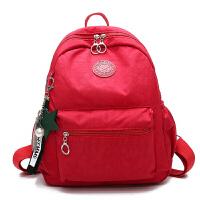 儿童书包时尚休闲背包小学生男女旅行双肩包女生女童旅游男生轻便 红色 暗红色