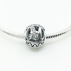 Pandora/潘多拉 16春 锆石字母M串珠 791857CZ